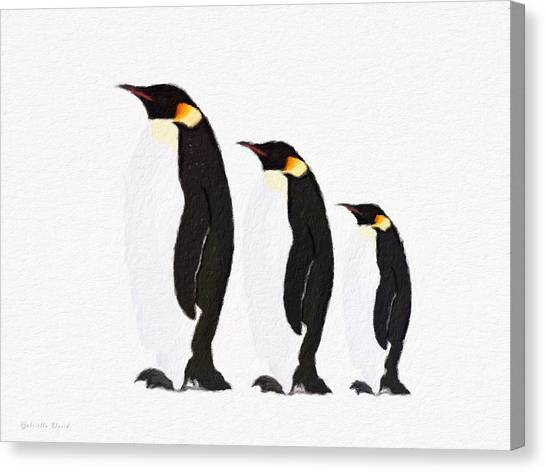 Penguins Family  Canvas Print