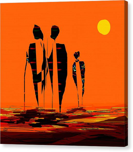 Penman Origiinal-295-long Walk Home Canvas Print
