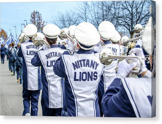 Pennsylvania State University Canvas Print - Penn State Blue Band Trumpets by Michael Guinard