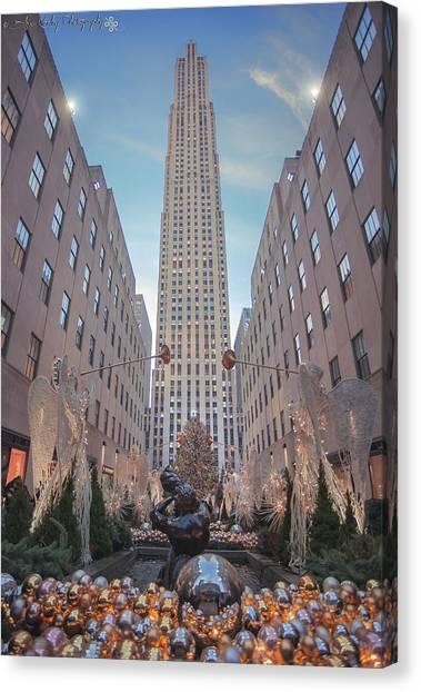 Pennsylvania State University Canvas Print - Penn State Christmas In Rockefeller Center by Alexa Keeley