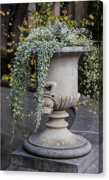 Penn State University Canvas Print - Penn State Flower Pot  by John McGraw
