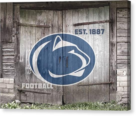 Penn State University Canvas Print - Penn State Football // Old Barn Doors by Tim Miklos