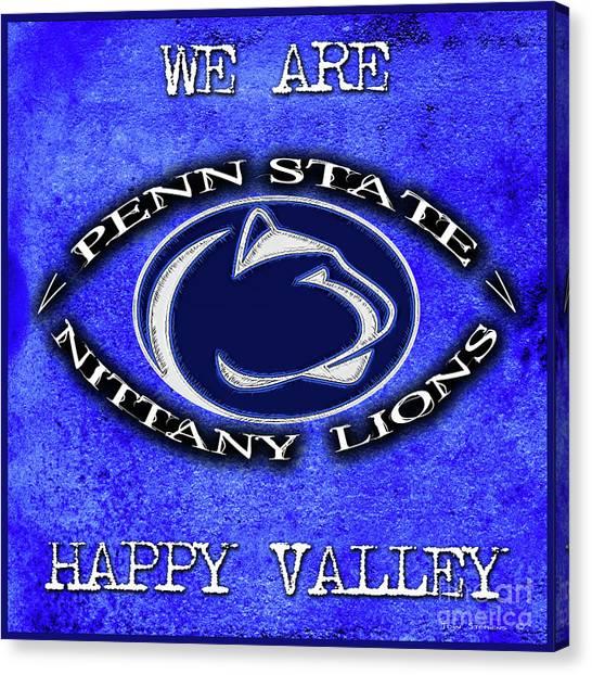 Pennsylvania State University Canvas Print - Penn State Nittany Lion Football Attitude by John Stephens