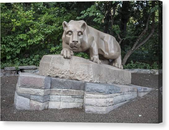 Penn State University Canvas Print - Penn Statue Statue  by John McGraw