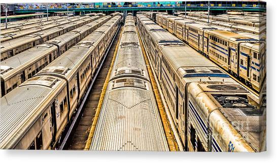 Penn Station Train Yard Canvas Print