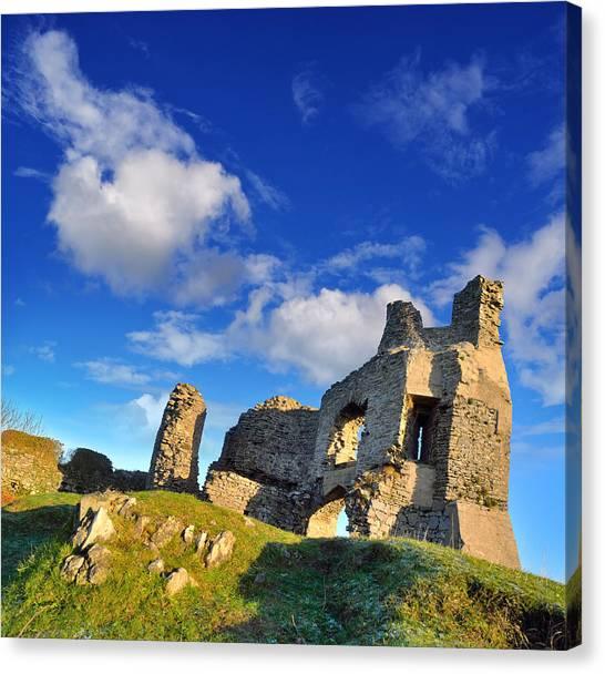 Pennard Castle Canvas Print