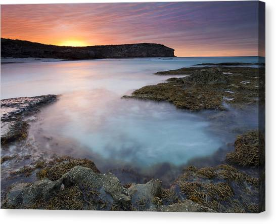 Pennington Bay Canvas Print - Pennington Dawn by Mike  Dawson