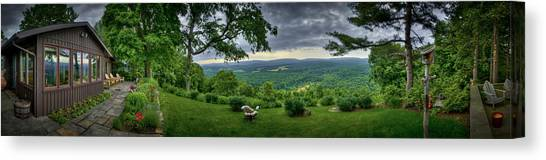 Canvas Print featuring the photograph Pennsylvania Overlook by Williams-Cairns Photography LLC
