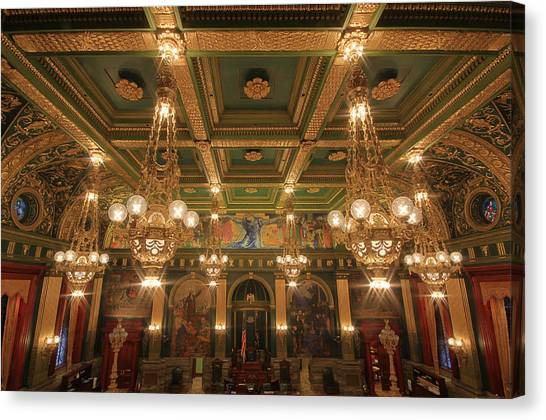 Pennsylvania Senate Chamber Canvas Print