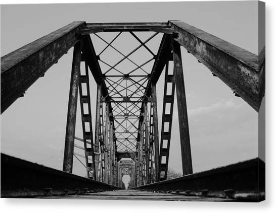 Pennsylvania Steel Co. Railroad Bridge Canvas Print