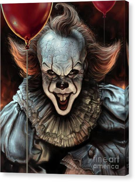 Clown Art Canvas Print - Pennywise by Andre Koekemoer