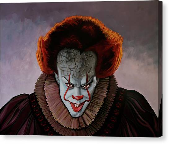 The Exorcist Canvas Print - Pennywise Painting 2 by Paul Meijering