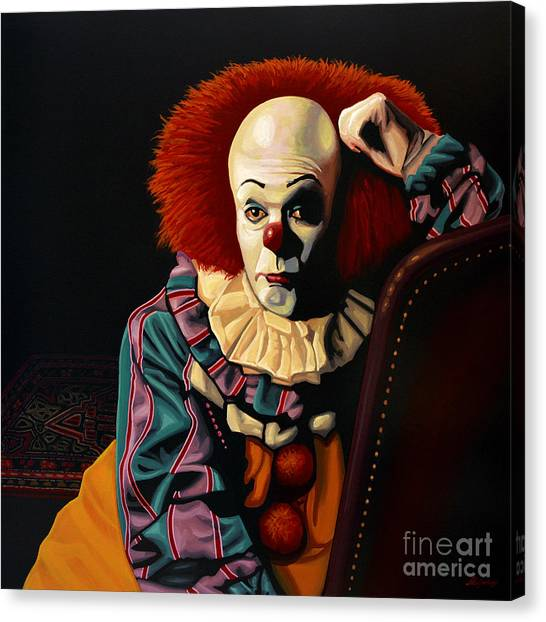 Death Canvas Print - Pennywise by Paul Meijering