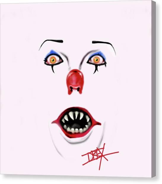 Clown Art Canvas Print - Pennywise The Clown by Danielle LegacyArts