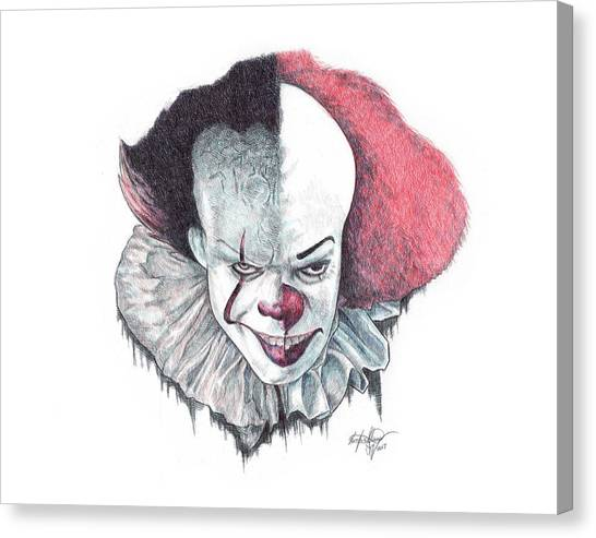 Ballpoint Pens Canvas Print - Pennywise The Clown by Serafin Ureno