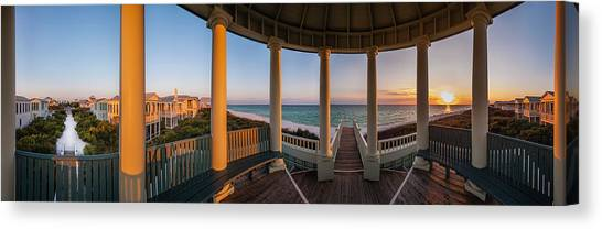 Pensacola Pavilion Seaside Sunset Canvas Print