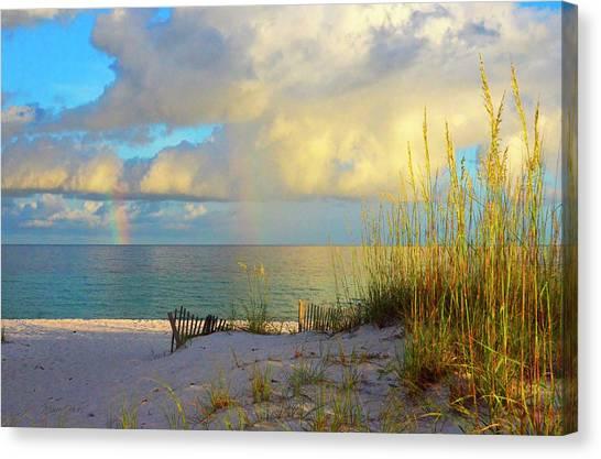 Pensacola Rainbow At Sunset Canvas Print