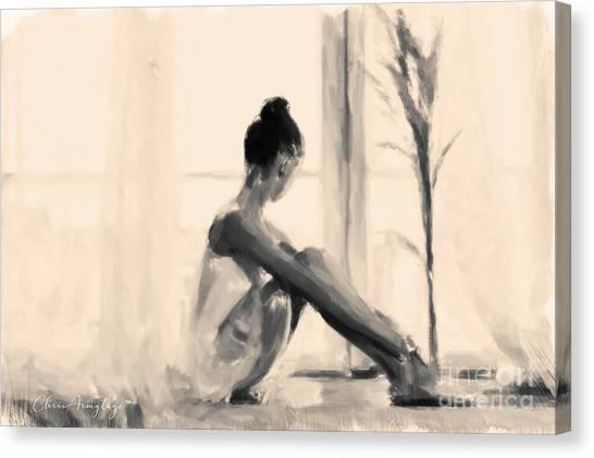 Pensive Ballerina Canvas Print