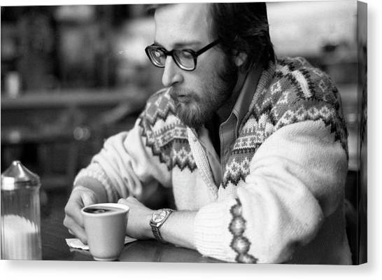 Pensive Brown Student, Louis Restaurant, 1976 Canvas Print