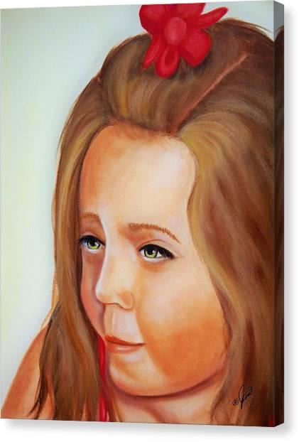 Pensive Lass Canvas Print