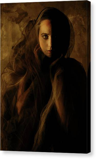 Hidden Face Canvas Print - Penumbra by Cambion Art