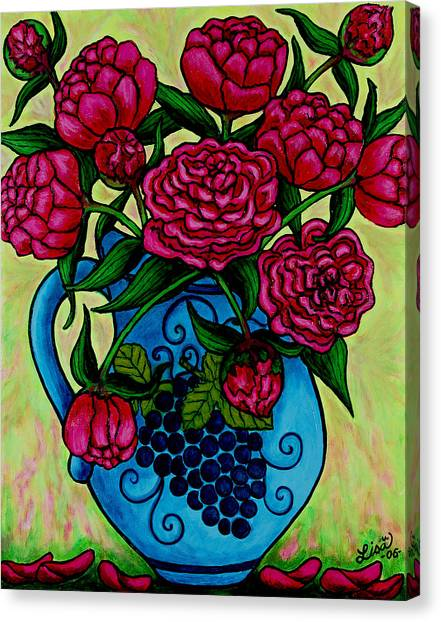 Peony Party Canvas Print