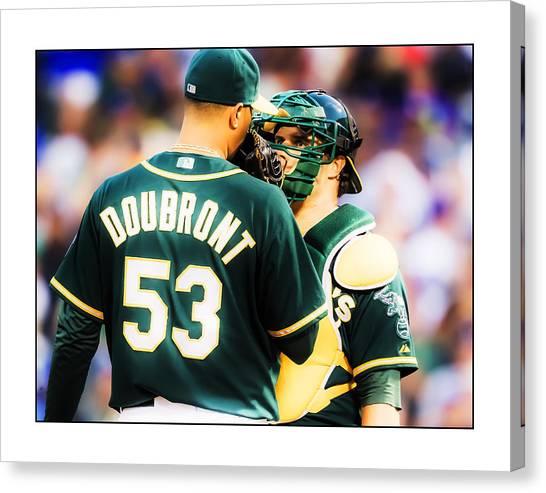 Oakland Athletics Canvas Print - People And Events_015 by Charles McDonald