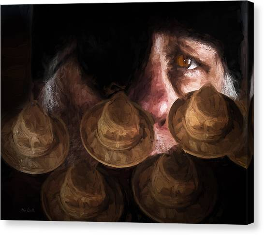 Worried Canvas Print - People In The Box by Bob Orsillo