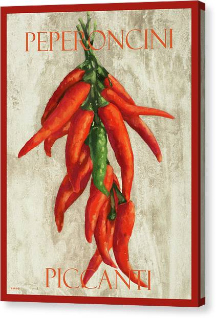 Pepper Canvas Print - Peperoncini Piccanti by Guido Borelli
