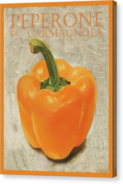 Pepper Canvas Print - peperone di Carmagnola by Guido Borelli
