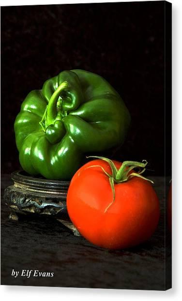 Pepper And Tomato Canvas Print