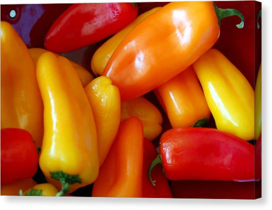 Pepper Medley Canvas Print by Heather S Huston