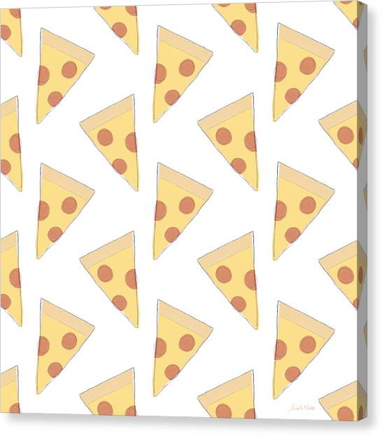 Pizza Canvas Print - Pepperoni Pizza- Art By Linda Woods by Linda Woods