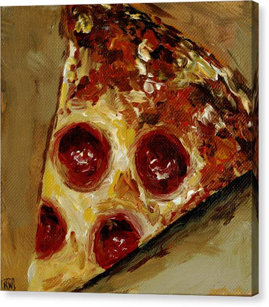 Meals Canvas Print - Pepperoni by Robin Wiesneth