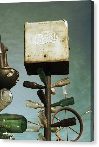Pepsi Canvas Print - Pepsi Bottle Tree - Route 66 by Glenn McCarthy Art and Photography