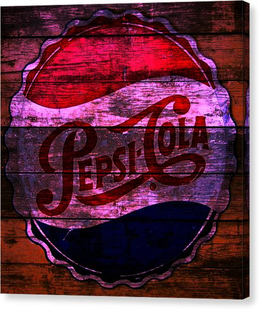 Mountain Dew Canvas Print - Pepsi Cola 1a by Brian Reaves
