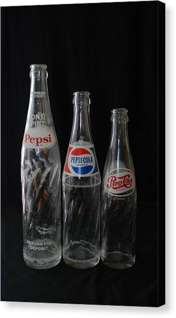 Pepsi Cola Bottles Canvas Print