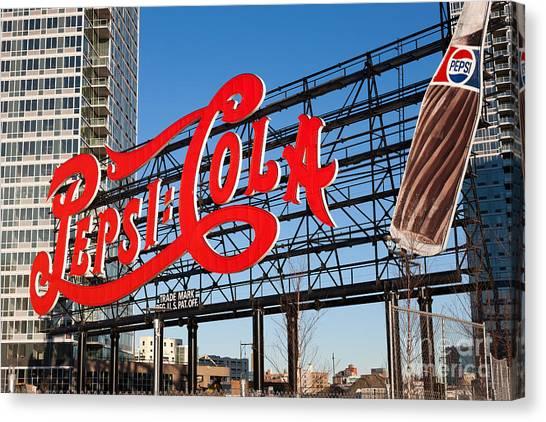 Pepsi-cola Sign I Canvas Print