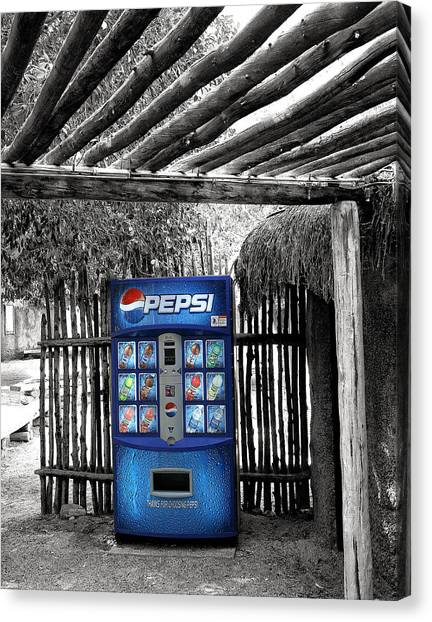 Pepsi Canvas Print - Pepsi Generation Palm Springs by William Dey