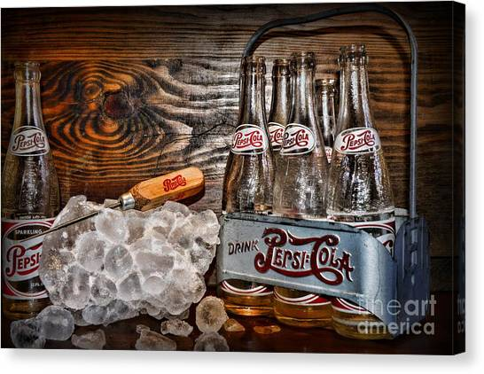 Pepsi Canvas Print - Pepsi You Need A Pepsi Ice Pick by Paul Ward