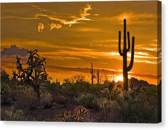 Peralta Arizona Sunset Canvas Print