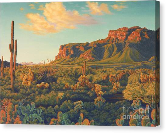 Mountains Canvas Print - Peralta's Gold by Cheryl Fecht