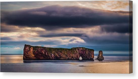 Perce Sunrise Canvas Print