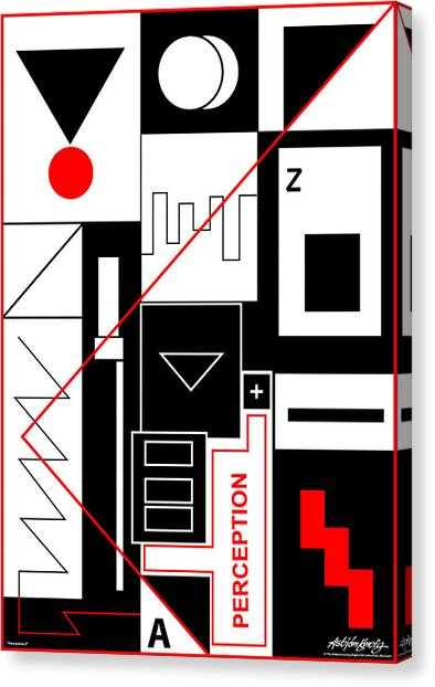 Perception II - Text Canvas Print by Asbjorn Lonvig