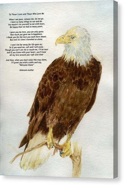 Perched Eagle- With Verse Canvas Print