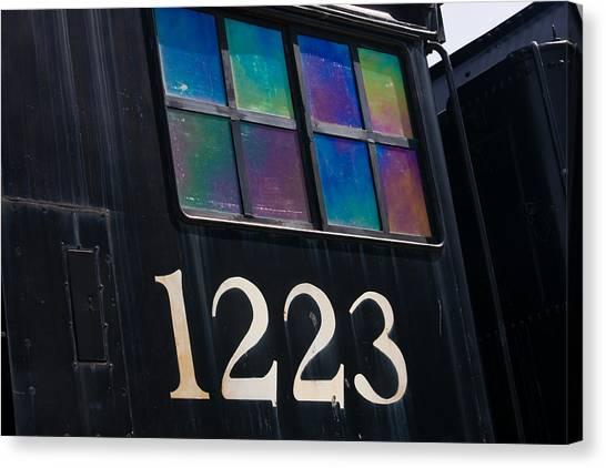 Marquette University Canvas Print - Pere Marquette Locomotive 1223 by Adam Romanowicz