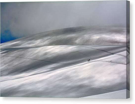 Winter Canvas Print - Perennial Glacier by Edoardo Gobattoni