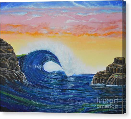 Perfect Curl Canvas Print