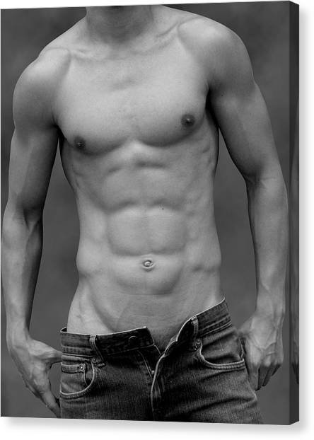 Bodybuilder Canvas Print - Perfect  by Mark Ashkenazi
