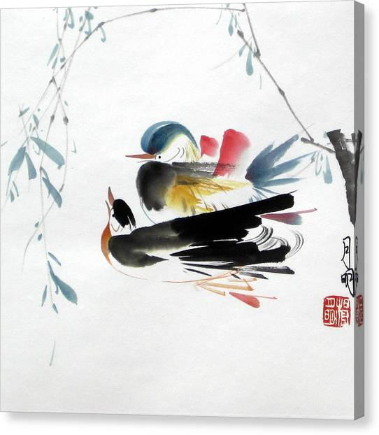 Perfect Match Canvas Print by Ming Yeung